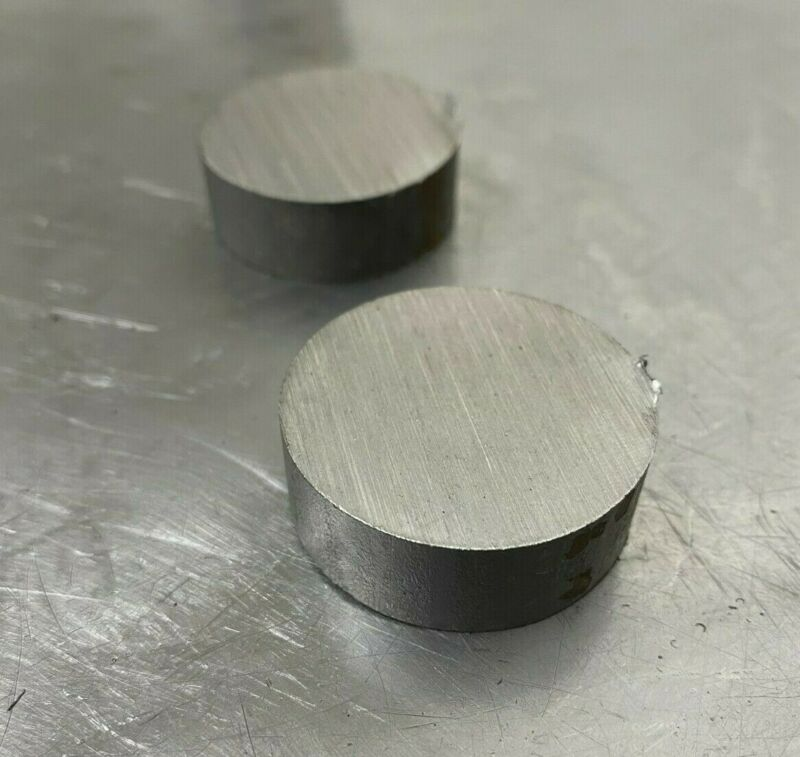 """1/2"""" Steel Plate, Disc Shaped, 1-1/2""""Diameter, A36 Steel,Round,Circle  2 PC LOT"""