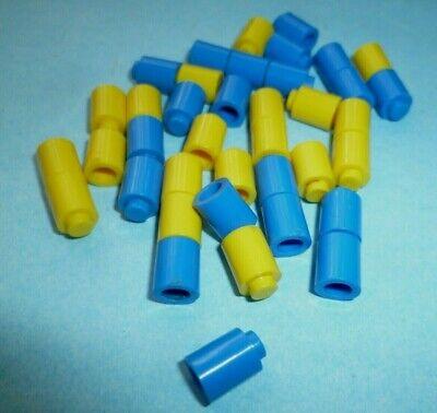 Lego 223 50er Steine blau gelb 50s 40 1x1 Round Bricks vintage mursten