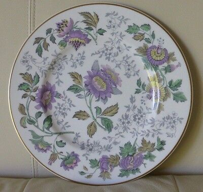 WEDGWOOD AVON MULTICOLOR GOLD RIM DINNER PLATE IN MINT CONDITION 10 3/4