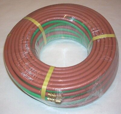 14 X 100 Grade T Twin Welding Hose W Fittings For Oxygen Acetylene Lp Propane