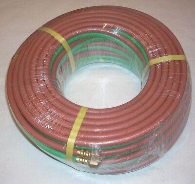 14 X 100 Grade T Twin Welding Hose W Fittings For Oxygen Acetylene Lp Propane