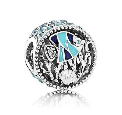 Charming Life Pearl (Authentic S925 Pandora 792075ENMX Enamel Multi-Colored CZ Ocean Life Charm)