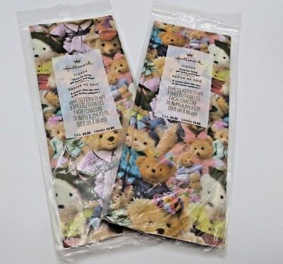 2pk lot HALLMARK Tissue Paper Teddy Bears Plush 20