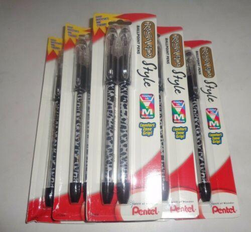 12 Pentel RSVP Style Ballpoint Pens BK91BP2LEO