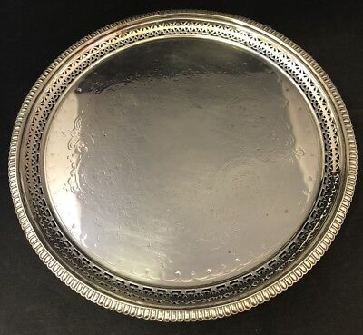 Victorian Silver Plated Salver/ Serving Tray