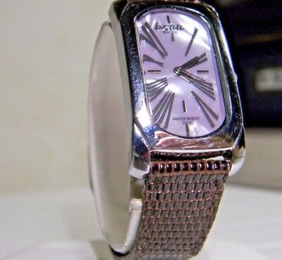 Womens Activa Swiss Curvex Watch Real Mother of Pearl & Lizard. 2 Year Warranty!