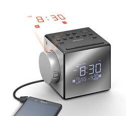 Sony ICF-C1PJ Alarm Clock FM/AM Radio - Time Projection & Dual Alarm - BRAND NEW