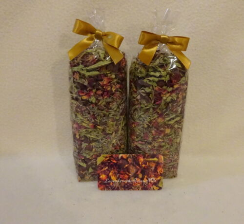 2pk Potpourri Hibiscus-Lavender-Rose Petals & Hips-Verbena-48ozs NO FILLER-Rare