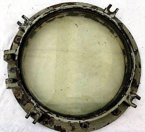 Vintage Porthole US Navy Ship Porthole Large