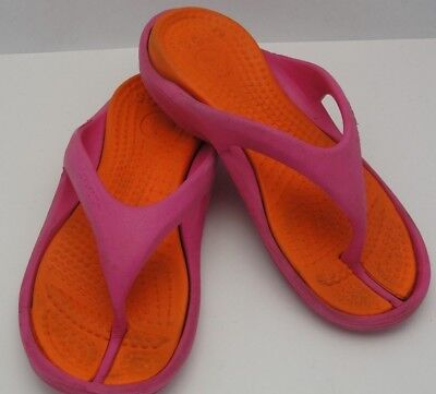 CROCS Flip Flop Sandals Pink Orange Women