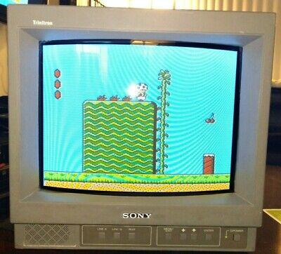 "Sony Trinitron PVM-14N6U 14"" Retro - Color CRT Video Gaming Monitor/ TV Works"