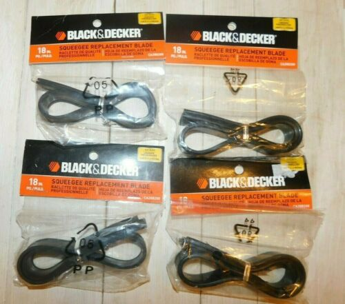 """BLACK+DECKER 268299 18"""" Squeegee Replacement Blade Lot of (4) New Sealed"""