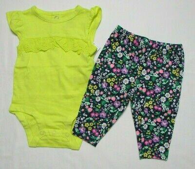 Baby girl clothes, Newborn , Carter's 2 piece set/new with tags (Baby Girl Clothes 2 Piece)