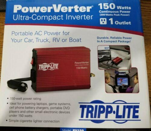 New Tripp Lite 150W PowerVerter Ultra Compact Inverter Model #PV150