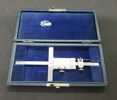 Vintage Brown Sharpe Vernier Depth Gauge W 6 Blade In Original Case No. 600