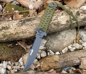 7-5-TACTICAL-COMBAT-BOWIE-FIXED-BLADE-HUNTING-KNIFE-Throwing-Survival-Military