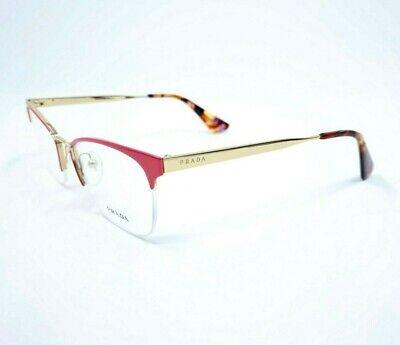 PRADA VPR 65Q PDN-1O1 Gold/Pink Women's Rx Eyeglasses 51[]17 140mm