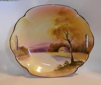 Vintage Noritake Hand Painted Pierced Handle Small Bowl Made In Japan ()