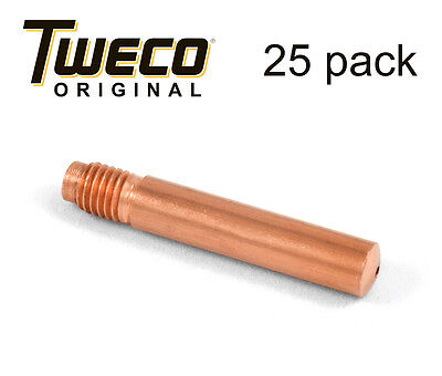 25 Ea - Genuine Tweco 14-35 Mig Welding Contact Tips Fits Tweco 2 And 4 Guns