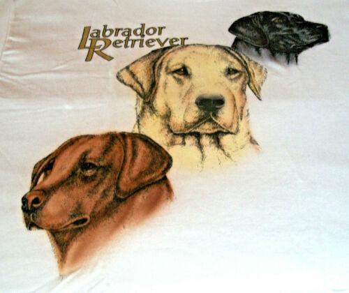"""Labrador Retriever T-shirt  """" White """" 2XL ( 50 - 52 )"""