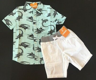 Gymboree Boys Gator Shirt & White Shorts Outfit 5 6 7 8 12 NEW NWT $53.90 ()
