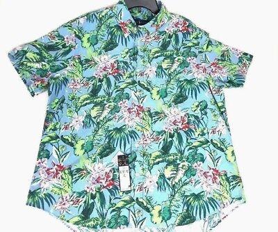 Ralph Lauren Polo Hawaiian Palm Floral Oxford Shirt Mens 3XB - NEW $125
