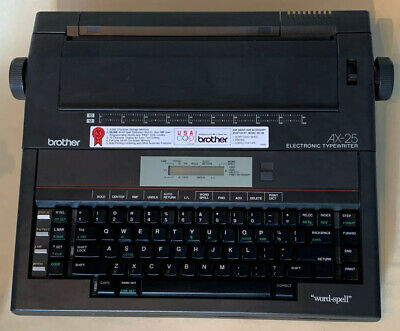 Brother Portable Electric Electronic Word-spell Typewriter Ax-25 Usa Type Writer