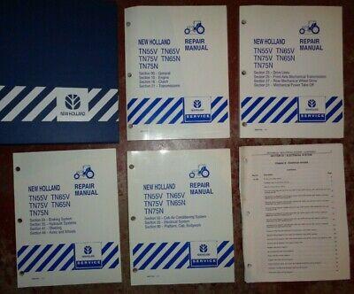 New Holland Tn55v Tn65v Tn75v Tn65n Tn75n Tractor Service Repair Manual Original
