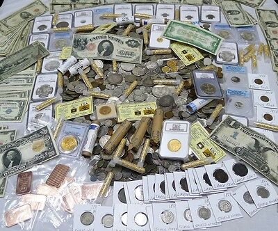 OVER 100 ESTATE COINS! SILVER COINS,GOLD,BULLION,CURRENCY,ANCIENT,WWII,100+YEARS