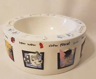 Disney Dog Characters Large Food Water Dish Bowl Porcelain Ceramic China