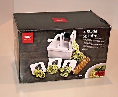 Paderno World Cuisine 4-Blade Folding Vegetable Slicer / Spiralizer Pro,