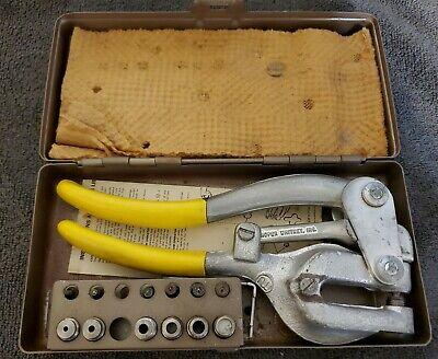 Vintage Roper Whitney Inc. Punch No. 5 Jr. Hand Punch - Metal Case