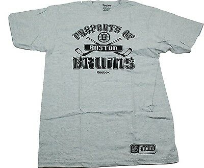 Boston Bruins Reebok Property Of Nhl Hockey Team T Shirt  Medium