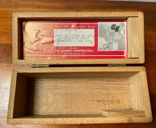 DuMONT Corp. Minute Man Magnetic Base BOX ONLY!!! (No Magnetic Base)