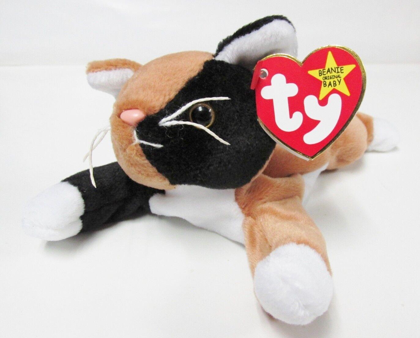 Dog PIT BULL Brand New PRISTINE CLEAN Ty Beanie Baby Bruno MINT w//Mint Tags