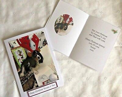 Personalised Cavalier King Charles Christmas Card