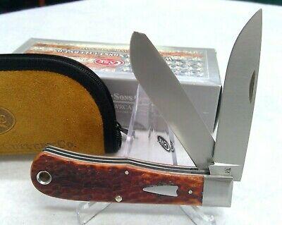 Case xx Bullnose Trapper Knife Jigged Chestnut Bone Tony Bose 10363