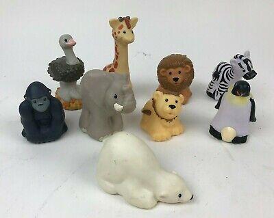 9 ZOO TALKERS Lot LITTLE PEOPLE Fisher Price ANIMAL Giraffe PENGUIN Ostrich LION