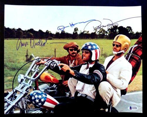 Easy Rider Nicholson Hopper & Fonda Signed Autographed 11x14 Photo BAS Certified