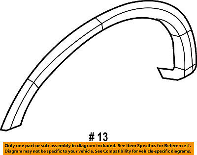FORD OEM 09-14 F-150 Front Fender-Wheel Well Flare Arch Molding Left 9L3Z16039B