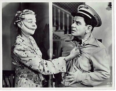 Sid Melton Iris Adrian Actors Stop that cab 1951  Vintage Photograph 10 x 8