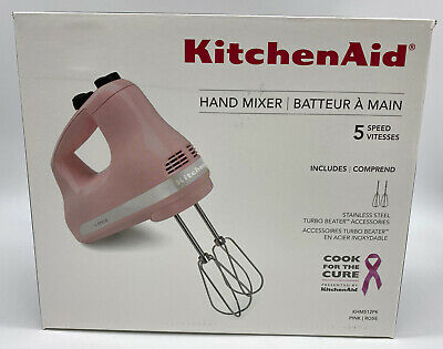 New KitchenAid Pink Rose Cooks for the Cure Ultra Power Hand Mixer Breast Cancer