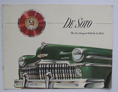 1949 DeSoto Full Line Prestige Brochure Sedan Club Coupe Suburban Carry-All