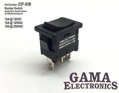 Mini 10 Amp 3 Position Rocker Switch On-off-momentary On Spdt - 23f-bb