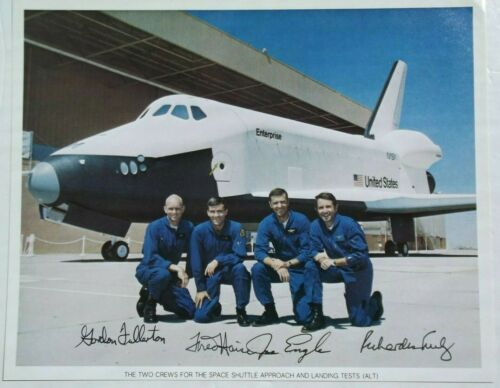 Space Shuttle Approach/Landing Test Crews Signed NASA Lithograph Authenticated