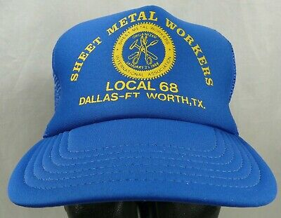 Sheet Metal Workers Local 68 Dallas-Ft. Worth, TX Logo Hat Blue Snapback USA Local Dallas Tx