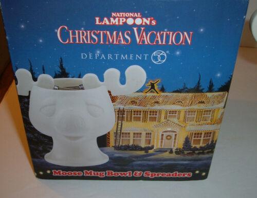 Dept 56 2014 Christmas Vacation Movie Moose Bowl & Spreader #4043242 NIB