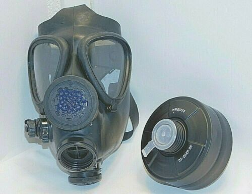 M15 Gas Mask, Israeli Army ADULT w/ New NATO 40mm FILTER. Surplus, excellent M15