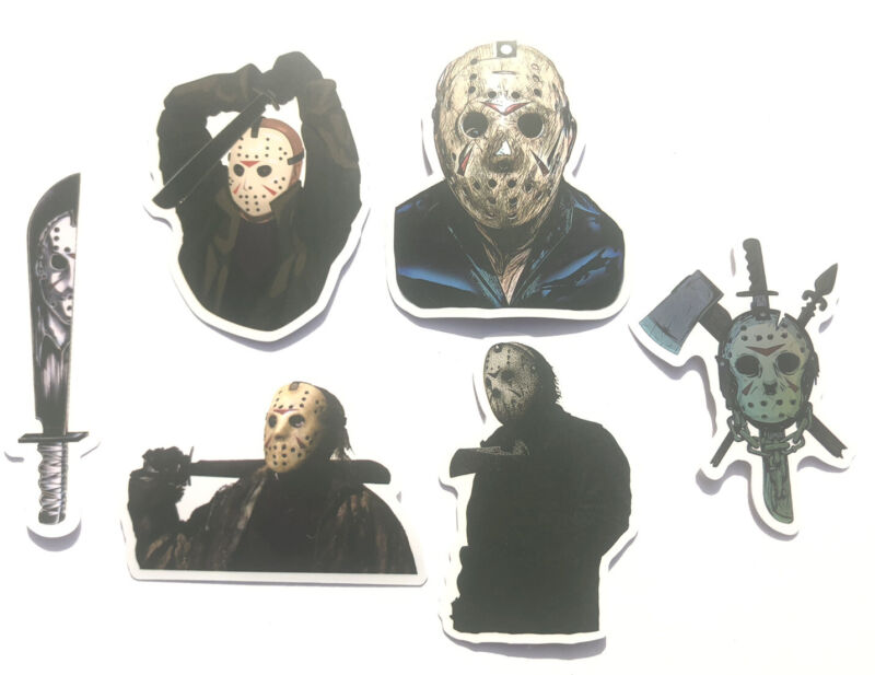 Jason Voorhees Friday The 13th Horror Movie Water Proof Vinyl Stickers Lot Of 6