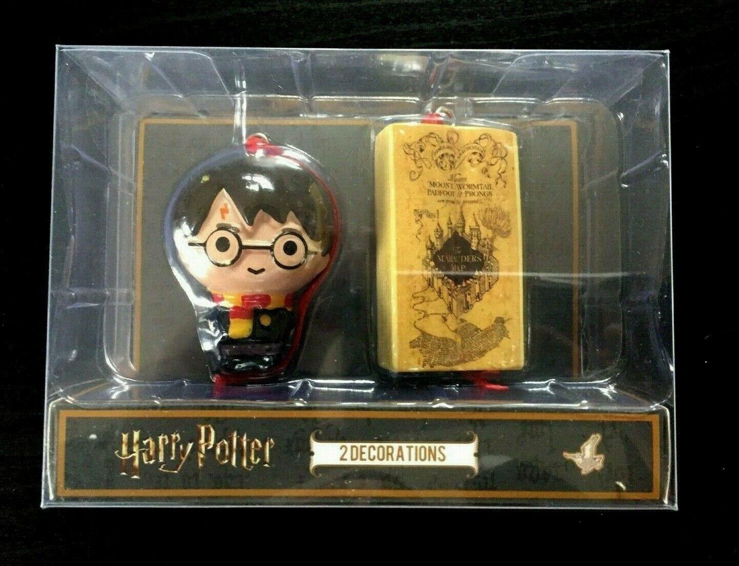 2 Harry Potter Hogwarts Buch Kugel Weihnachts Anhänger Baum Schmuck Ornament